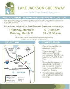 Lake Jackson Greenway  Community Engagement Sessions